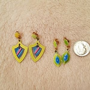 TWO PAIRS OF  DAINTY EARRINGS